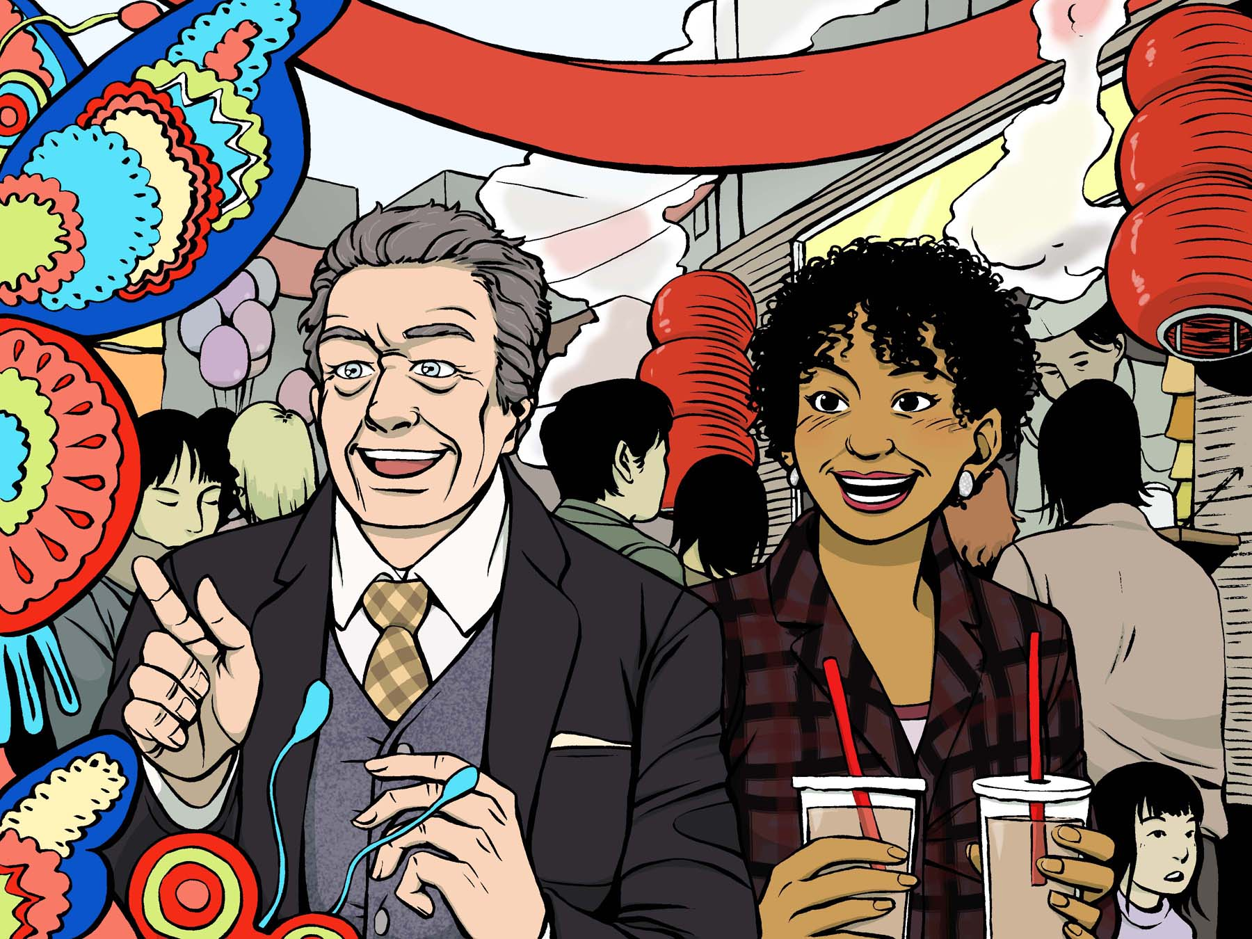 Walter and Astrid in Chinatown by Tallychyck