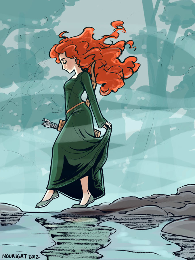Brave Merida by Tallychyck