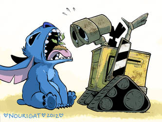 Stitch and Wall-E