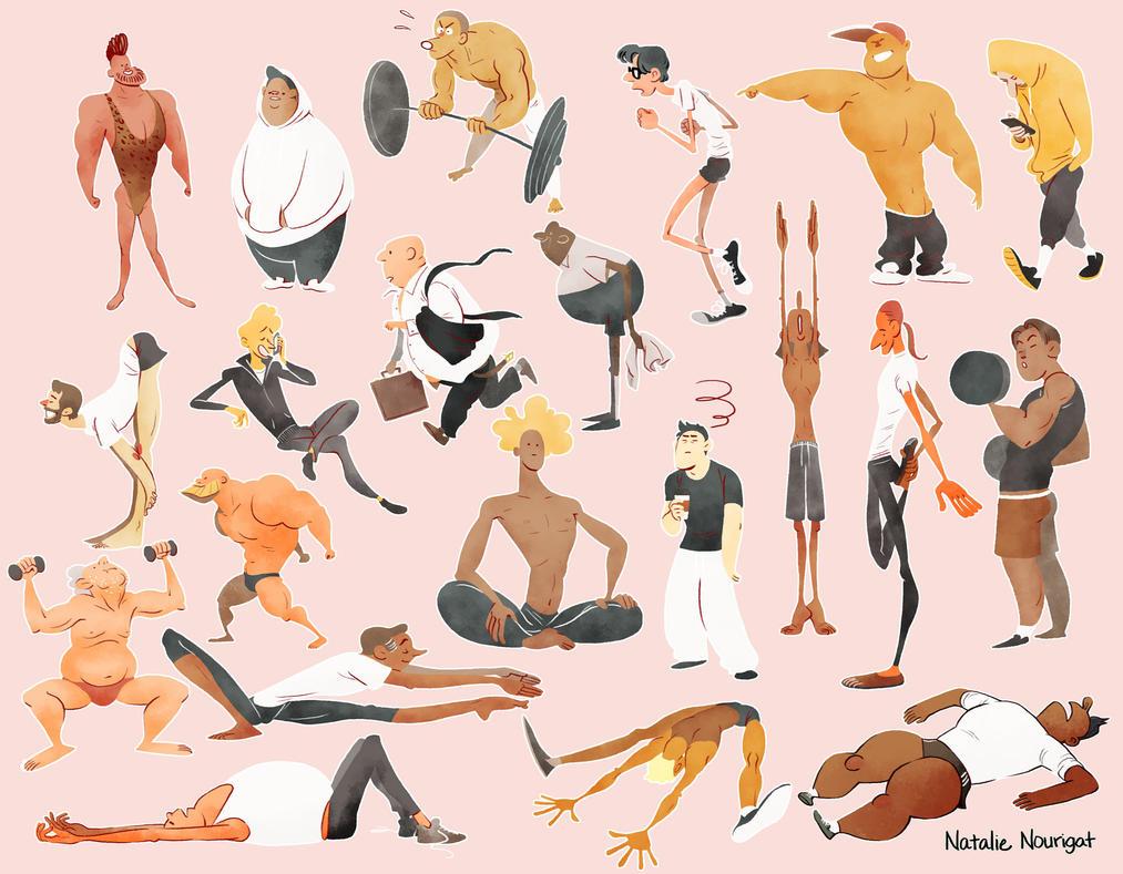 Gym Dudes by Tallychyck