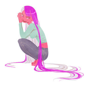 Color block character design