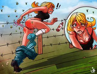 Wasps attack! by SchroedingerTales