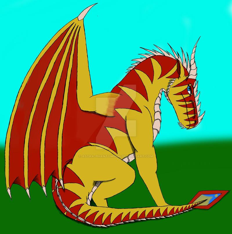 Derek's Possible Full Body Dragon Form Design by Astra-Phantom5654