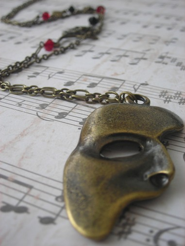 Erik's mask necklace by LKJSlain