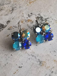 Blue Fashion earrings by LKJSlain