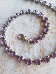 Burgundy DeLite Crystal Necklace