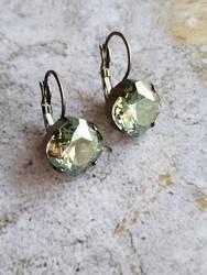 Aqua Golden Shadow Earrings