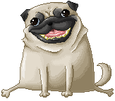 Pixel pug by PeaceDuh