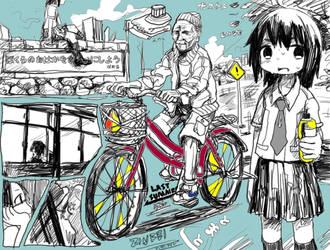 School and oil paints by tatewaki-zinbei