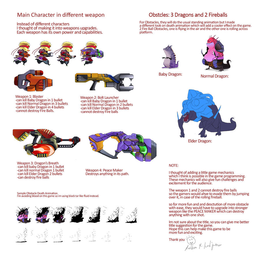 DuckvsDragon concept by xarthoric