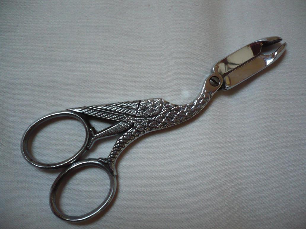 Funky birdey scissors by Cat-in-the-Stock