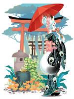 Japan spirits: INARI KITSUNE by blackBanshee80