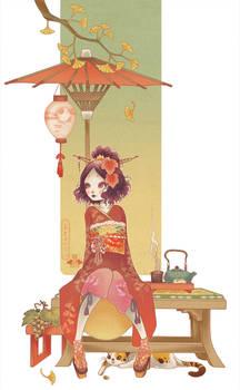 The Kokeshi of autumn