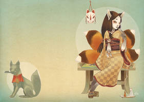 Kitsune mask by blackBanshee80