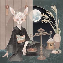 The rabbit in September by blackBanshee80