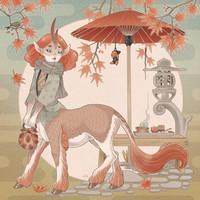 Sotto le rosse foglie di momiji by blackBanshee80