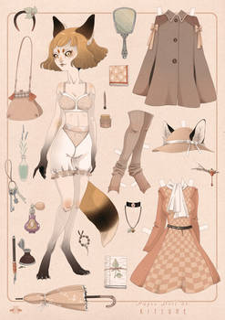 Paper Doll KITSUNE