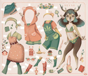 Tiny Paper Doll n. 03: DRYAD