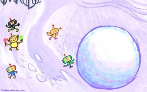 OILD: Make a Snowman wallpaper by jazaaboo