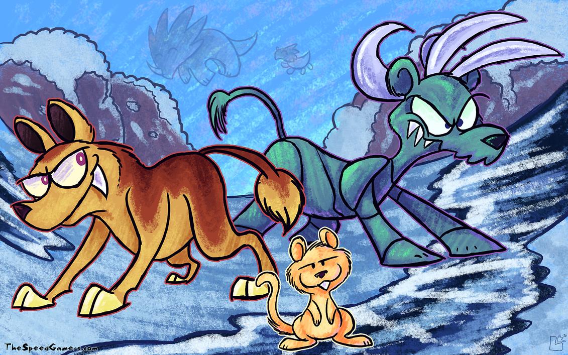 OILD: Ice Age wallpaper by jazaaboo