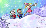 OILD: Snowman wallpaper