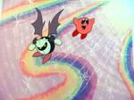 Kirby and Meta-Knight cel