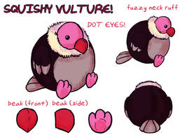 SQUISHY VULTURE by jazaaboo