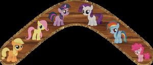 Filly Mane 6 Pony's Boomerang