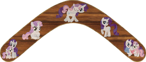 Sweetie Belle and Rarity Boomerang