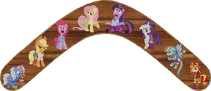 Ponies in Equestria Girls Outfits Boomerang