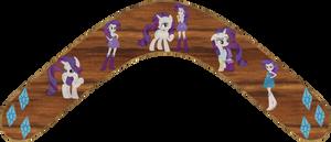 Rarity Pony and Human form Boomerang