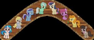 Background Ponys as Fillies Boomerang
