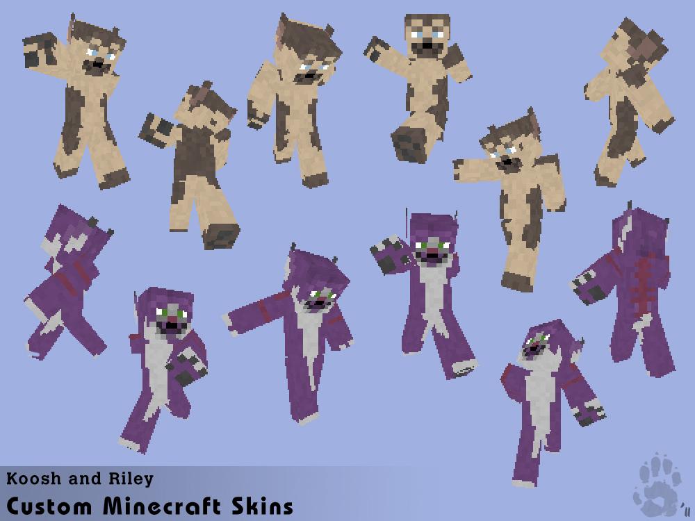Koosh + Riley- Minecraft Skins By Caninehybrid On Deviantart
