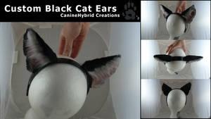 Custom Black Cat Ears