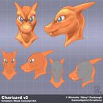 Charizard v2: Mask Concept Art