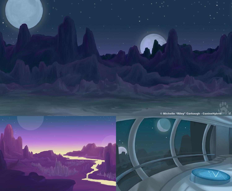 Alien Homeworld- Background Design Class by CanineHybrid ...
