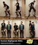 Custom Digitigrade Stilts by CanineHybrid