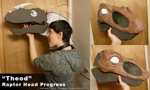 Theod Raptor Head Progress by CanineHybrid