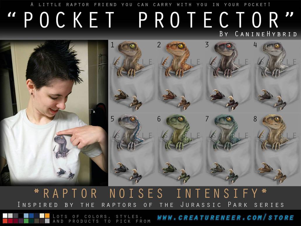 'Pocket Protector' Raptor Shirt Design by CanineHybrid
