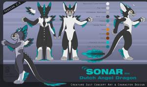 Sonar the Dutch Angel Dragon 2.0 by CanineHybrid