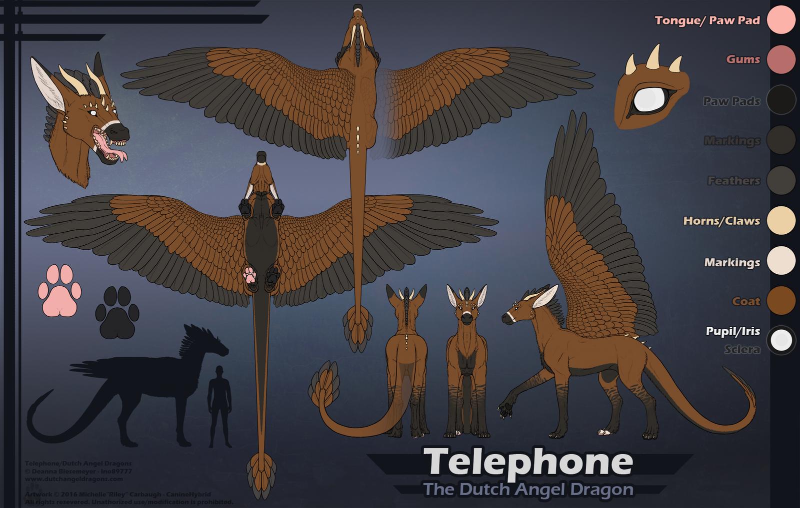 Realistic Telephone Ref Sheet by CanineHybrid