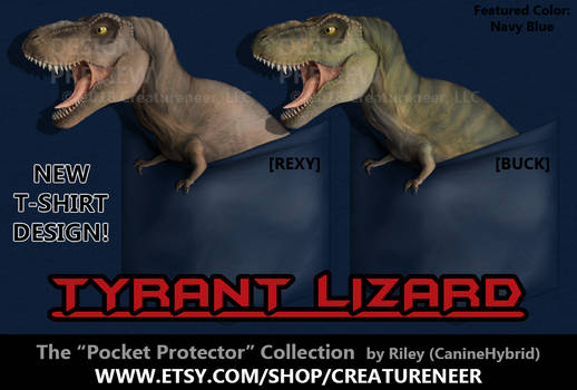 T-Shirt Design: Tyrant Lizard 'Pocket Protector'