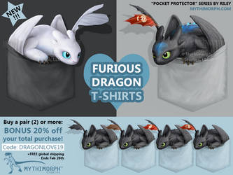 Furious Dragon T-shirts [SALE] by CanineHybrid