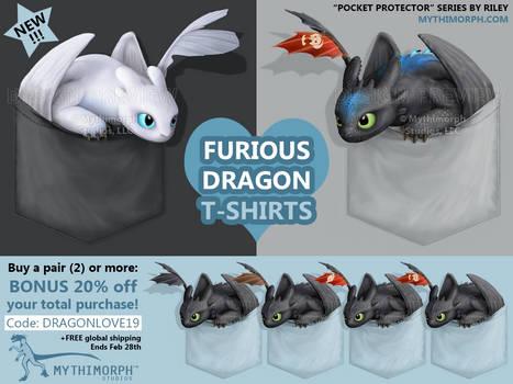 Furious Dragon T-shirts [SALE]