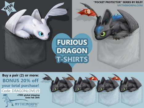 Furious Dragon T-shirts [SALE]