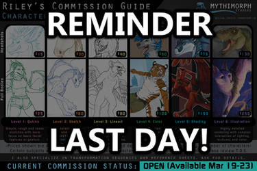 REMINDER: Last Day for Commissions! by CanineHybrid