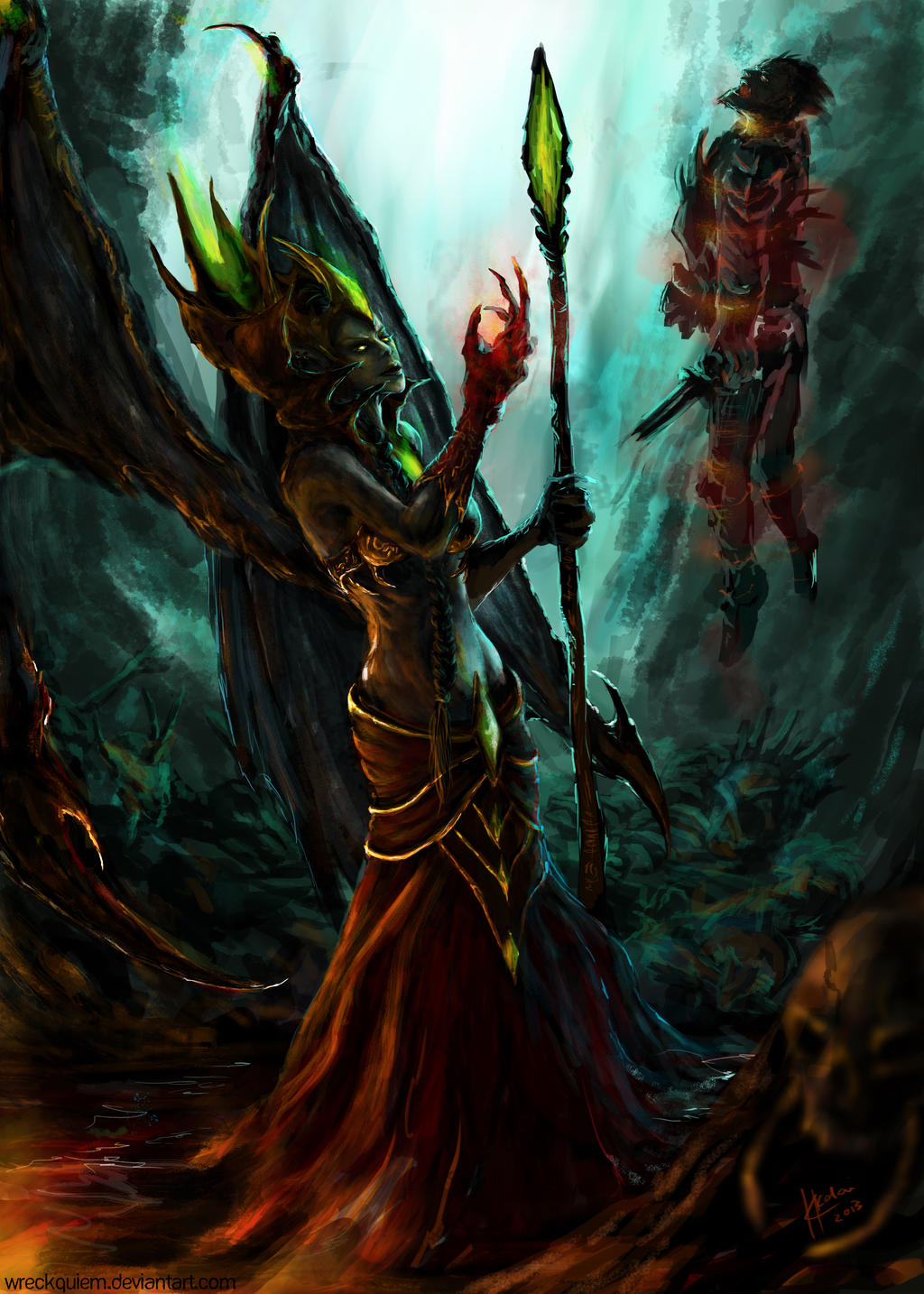 WoW Fanart: Blood Queen Lana'thel by Kalkri