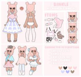[Reference Sheet] *NEW* Binky (MMD) RS Example by littlebink