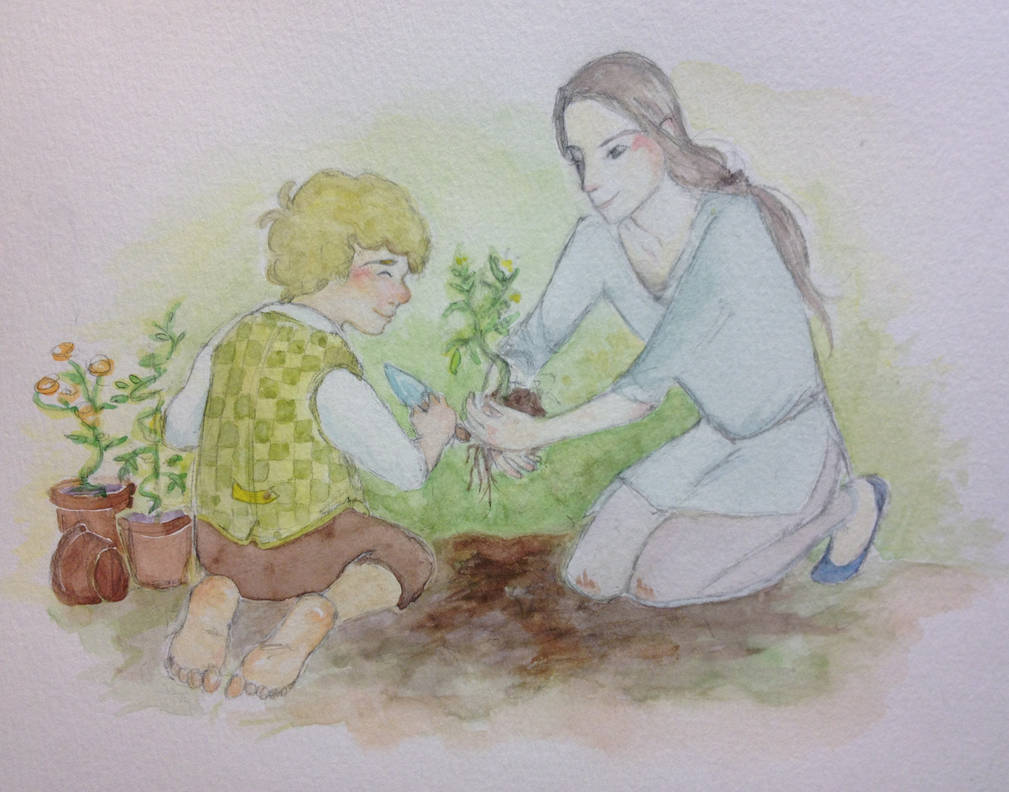 The two gardeners by Doodemoiidesu