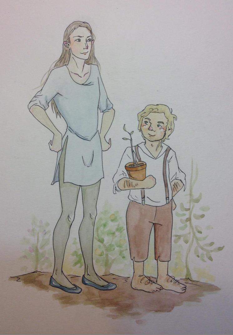 Two gardeners (sketch 2) by Doodemoiidesu